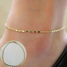 Simple Gold Thin Chain Anklet Ankle Bracelet Barefoot Women Sandal Foot Jewelry