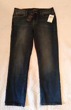NWT $99 Lucky Brand SWEET CROP Denim Jean Capri Pants Back Flap Pockets Womens 8