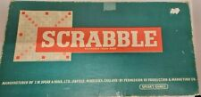 Scrabble Board game in original box 1955 Edition with wooden racks (100 pieces)
