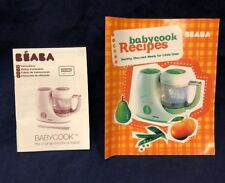 Beaba Babycook Classic Blender Baby Food Recipe Booklet and Instruction Manual