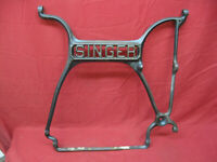 Vintage Cast Iron Singer Treadle Sewing Machine Center Rail Support Art
