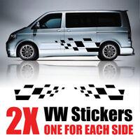 VW Transporter Graphics stripes Camper Van  Decals Stickers T4 T5 Caddy rv37