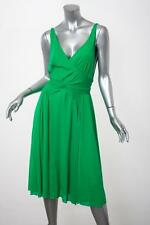 MARC JACOBS Womens Green Sleeveless Draped V-Back Cocktail Dress 6/S NEW NWT