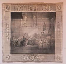 L'onction de Charles X à Reims, lithographie sur tissu, G. Engelmann, 1825.