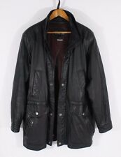 Women's L Wilson's Black Leather Jacket Winter Coat Thinsulate Removable Liner