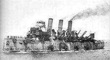 HMS VINDICTIVE AND THE 1918 RAID ON ZEEBRUGGE - ROYAL NAVY - 5 PHOTOS - WWI