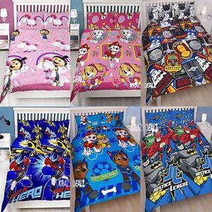 Official Licensed Character Double Duvet Cover Bed Set KIDS BOYS GIRLS Gift
