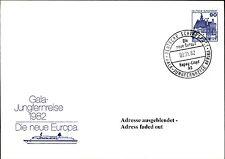 Dt. Schiffspost MS EUROPA 1982 Sonderstempel GALA-JUNGFERNREISE Maiden Voyage