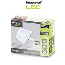 Integral LED Floodlight Compact Tough IP65 20w White Cool White Outdoor Light