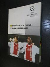 030220 -17 Fußball Programm BVB Borussia Dortmund - Ajax Amsterdam EC 1996