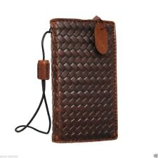 genuine real leather case for iphone SE 5s 5c cover book wallet credit cards new
