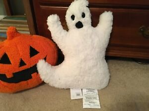 """NWT Pottery Barn Halloween Ghost Pillow White 15"""""""