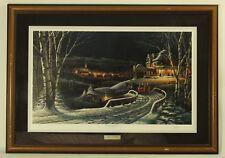 Terry Redlin ''Family Traditions'' Wildlife Art Christmas 1989 Framed & Signed