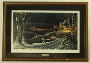 Terry Redlin ''Family Traditions'' Wildlife Art Christmas 1989 Signed