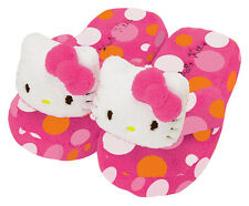 NEW SANRIO HELLO KITTY PLUSH BATH ROOM SLIPPERS kids size M 9-1 15-17cm SUMMER