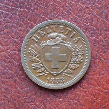 Switzerland 1883 bronze 2 rappen