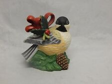 Lenox China Winter's Greetings Chickadee Covered Box
