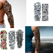 5 Sheets Full Arm Leg Temporary Waterproof Tattoos Art Stickers sleeve Removable
