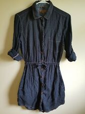 Jachs Girlfriend Size XS Dark Blue Polka Dot Denim Eda Tunic Dress LNC