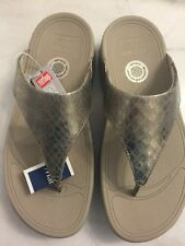Fitflop LULU SUPERGLITZ PALE GOLD 560-308-040 Size US 6 / EUR 37