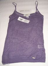 NWT Lacoste + Malandrino Purple Crocheted Tank Top Shirt Misses Size XSmall