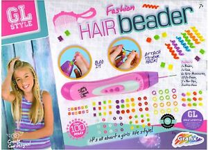 Grafix GL Style Fashion Hair Beader and Beads Weave Kit Set for 7 Years + Girl's