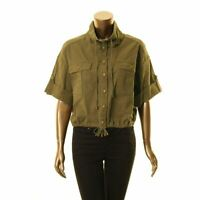 LAUREN RALPH LAUREN NEW Women's Drawstring Cropped Jacket Top TEDO
