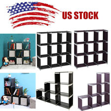 3 Tiers Storage Cube Closet Organizer Shelves 9 Cube Cabinet Bookcase Storage Us