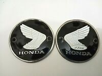1 Pair Emblems Honda CB305 CA175 CB CL 72 DREAM C77 SuperHawk White