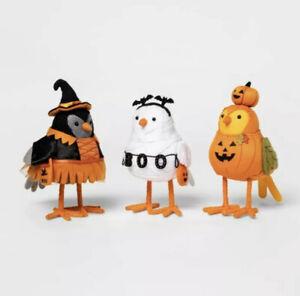 Target 2021 Hyde And Eek Harvest 3 Bird Set Featherly Friends Halloween New