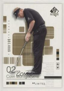 2002 SP Authentic Limited /100 Colin Montgomerie #22SPA