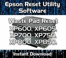 WASTE INK PAD RESET EPSON  XP600 XP605 XP700 XP750 XP800 XP850 SOFTWARE DOWNLOAD