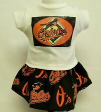 Baltimore Orioles Theme Outfit For 18 Inch Doll