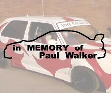 In Memory of Paul Walker Aufkleber Sticker JDM Hater Fun Fast Furios Rip