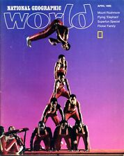 National Geographic World - April 1986 - Jesse White Tumbling Team of Chicago