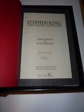"ROCKY WOOD & JUSTIN BROOKS - STEPHEN KING: THE NON-FICTION - LETTERED ""PC"" - OOP"