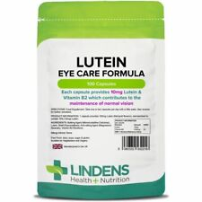 Lindens Lutein tablets 10mg 100 Capsules Quality Supplement B2 Eye Vision Care