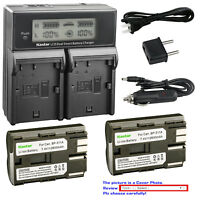 Kastar Battery LCD Dual Fast Charger for Canon BP-511 CB-5L & FV200 FV300 FV400