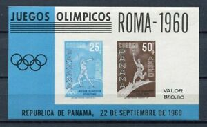 29756) Panama 1960 MNH New Olympic Games Rome S/S