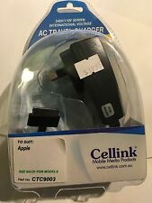 iPhone 4,4S,3G,3GS,iPod 1st & 2nd Gen AC Mains Charger. Brand New & Sealed pack.