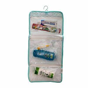Large Travel Hanging Wash Bag Folding Toiletry Bag Mens Ladies Packs Flat