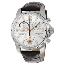 Certina DS Podium GMT Silver Dial Brown Leather Mens Quartz Watch C0016391603701