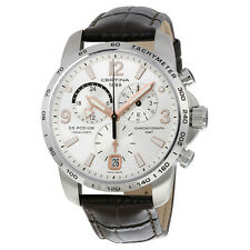Certina DS Podium GMT Silver Dial Brown Leather Mens Quartz Watch C0016391603701