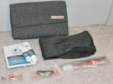 *NEW* Air Canada Business Class Amenity Kit Gray Tweed Soft Toiletry Bag Clutch