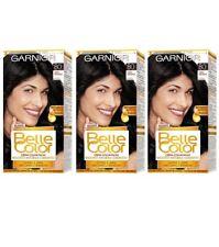3pz GARNIER BELLE COLOR Colorazione Permanente 80 Nero Naturale tintura capelli