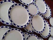 27 piece BLUE CIRCLES RESTAURANT WARE PLATES GEOMETRIC MID CENTURY MODERN ATOMIC