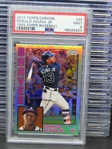2019 Topps Chrome Ronald Acuna Jr. 1984 Topps Baseball #24 PSA 9 Braves F74