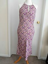 """""""VIP"""" BEAUTIFUL SPOTTED  PATTERN HALTER-NECK SUMMER DRESS SIZE 16 NEW!!!"""