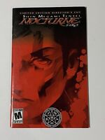 🔥 Shin Megami Tensei: Nocturne - PS2 Playstation 2 Two 🔥 INSTRUCTION MANUAL