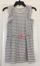 Oshkosh Stripe Cap Sleeve Cotton Girl's Dress Sz 14 Euc
